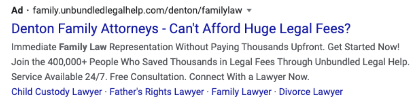Family Law Ad